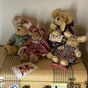 A Collection of 5 Boyds Bears, Rabbits & A Moose!
